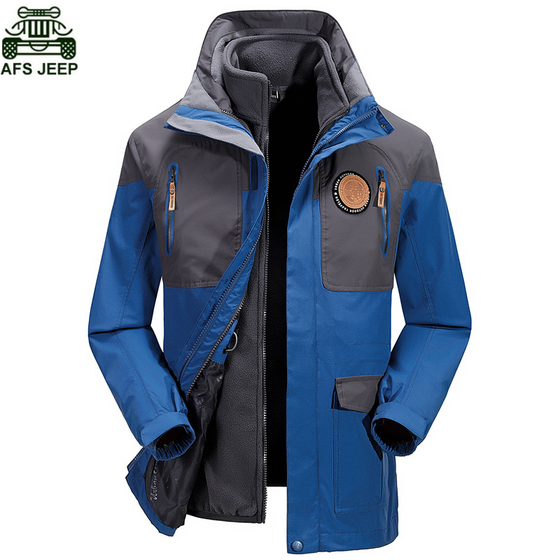 AFS JEEP Brand Hunting Clothes Camping Hiking Clothing Windstopper Waterproof Jacket Thermal Coats Men Jacket Fishing Ski Rain