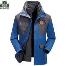 AFS JEEP Brand Hunting Clothes Camping Hiking Clothing Windstopper Waterproof Jacket Thermal Coats Men Jacket Fishing Ski Rain