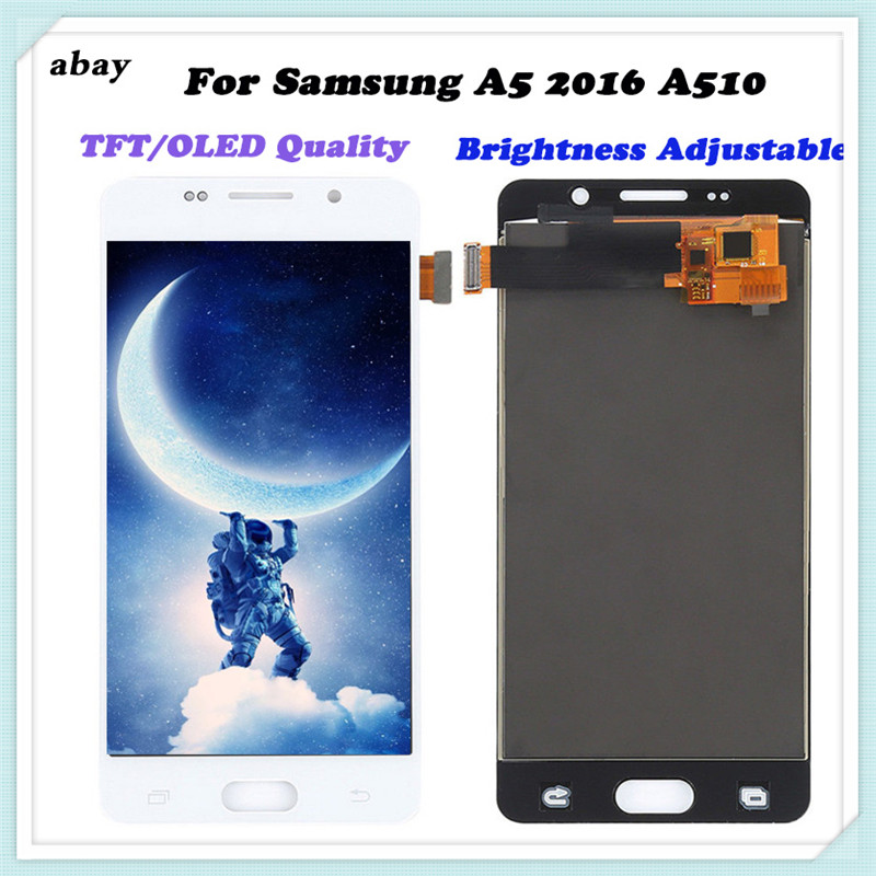 TFT/OLED <font><b>Lcd</b></font> Display For <font><b>Samsung</b></font> Galaxy <font><b>A510F</b></font> A5 2016 Screen Touch Assembly Display For <font><b>Samsung</b></font> <font><b>A510F</b></font> Digitizer Adjust Bright image