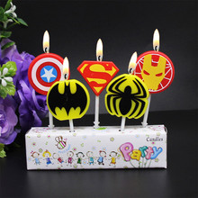 5pc Avengers Party Supplies Birthday Cake Candles Favors Kids Evening Superhero Decorations Set