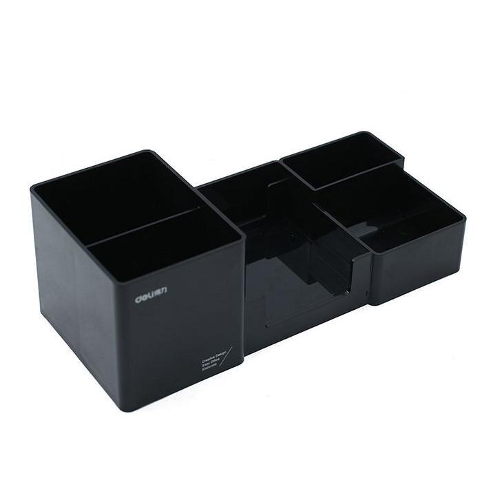 Держатель для канцелярских принадлежностей, аксессуары для стола, резиновая коробка для ног, держатель для канцелярских принадлежностей, канцелярские товары, органайзер для стола - Цвет: M black