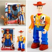 Nuevo juguete historia 3 figura de acción Sherif Woody figuras voces hablar  inglés Woody modelo juguetes colección niños 6cebfb51ea2