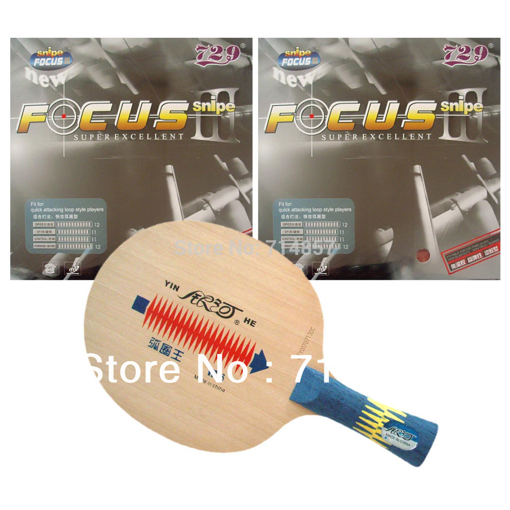 ФОТО Galaxy YINHE W-6 Table Tennis Blade with 2x 729 FOCUS III snipe Rubber with sponge for a racket