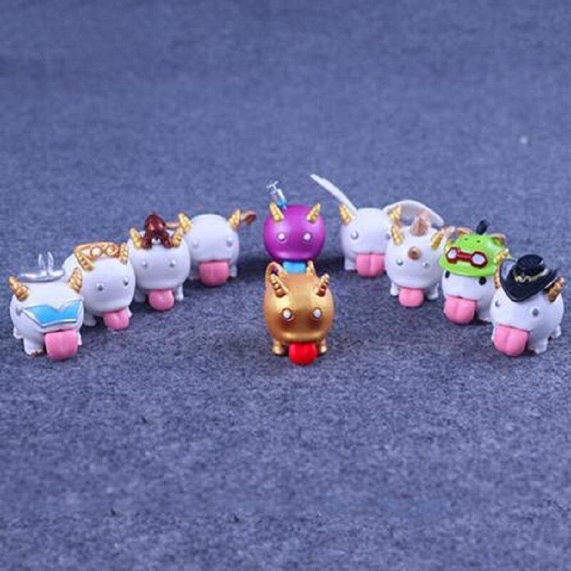 10 Pcslot Poro Super Cute Twist Egg Doll Figures Model Capsule Toys by Random For Children Gift