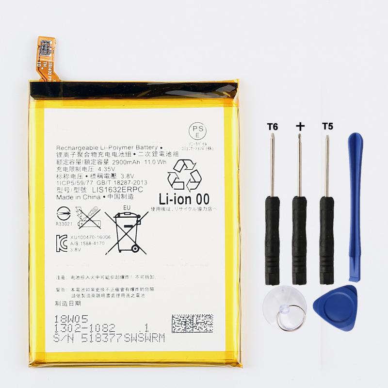 Original LIS1632ERPC <font><b>Battery</b></font> For Sony <font><b>Xperia</b></font> <font><b>XZ</b></font> XZs F8331 F8332 2900mAh image