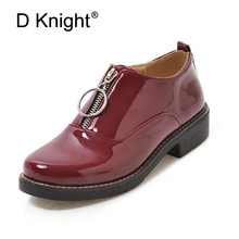 Fashion Slip-on Women Oxford Shoes Ladies Casual Low Heeled Loafers Vintage England Style For Plus Size 34-43