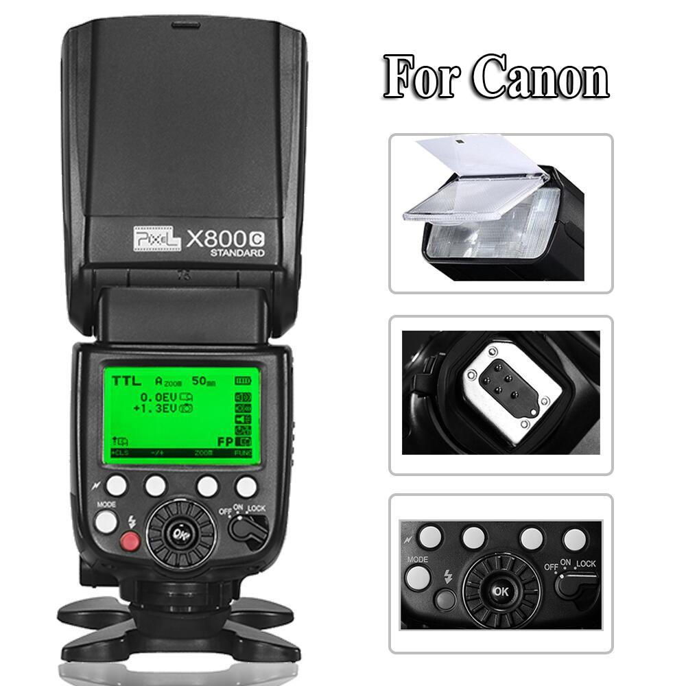 INSEESI Standard X800C ETTL Wireless HSS High-Speed Sync Flash Speedlite FlashLight for Canon 6D 7D 70D 60D 600D 650D DSLR viltrox jy 680ch 1 8000s high speed sync hss ttl flash speedlite for canon dslr 760d 750d 700d 650d 80d 70d 60d 5dii 7d 6d 1300d