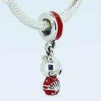 FANDOLA 925 Argent Bijoux Perles pour Femmes BRICOLAGE Adapte Bracelet Charmes Japonais Poupée Argent Charme Balancent Perles pour Fabrication de Bijoux