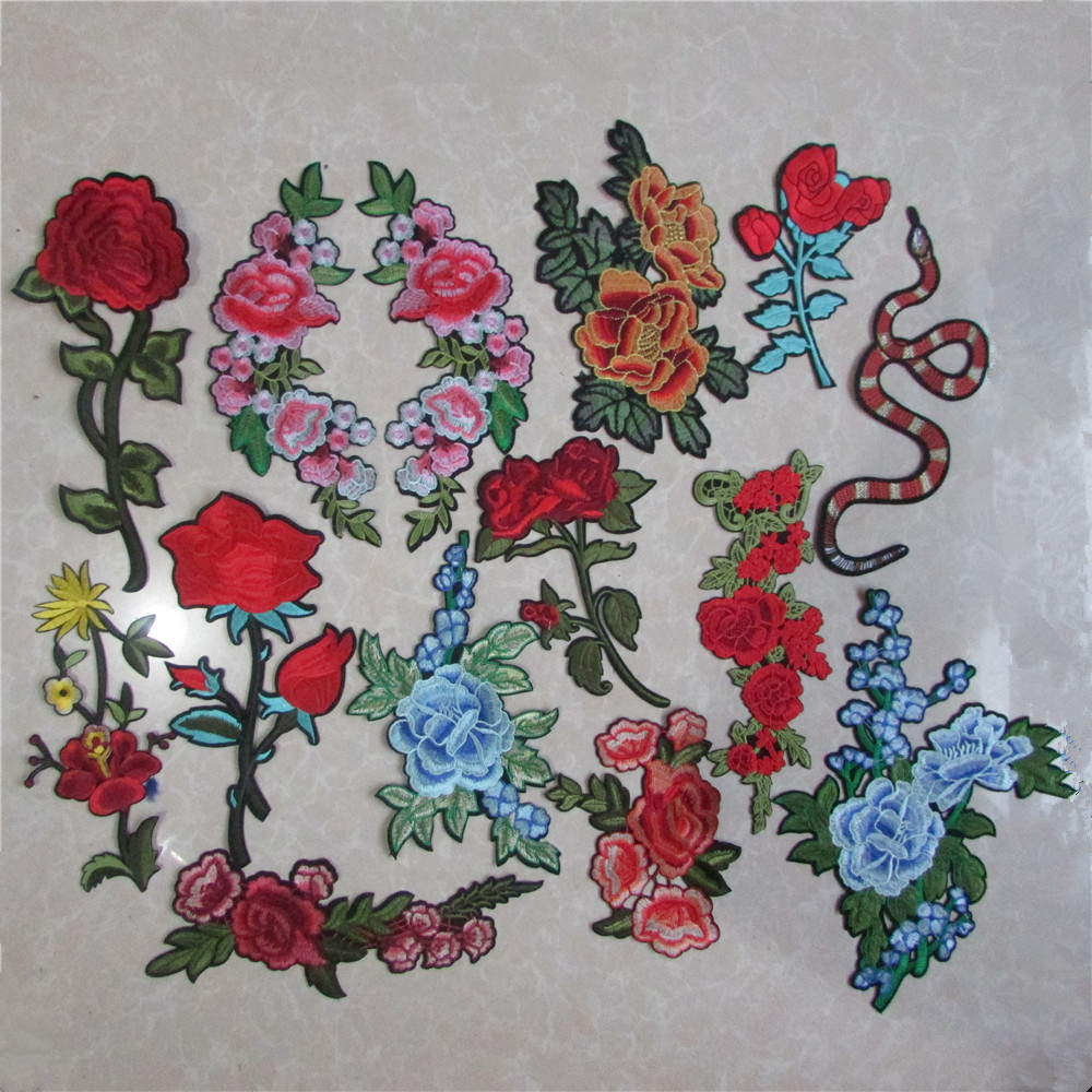 Online buy wholesale applique embroidery flower patches