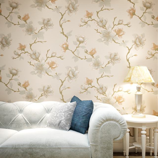 Us 44 0 Chinese Style Classical Pastoral Non Woven Wallpaper Japanese Style Bedroom In Wallpapers From Home Improvement On Aliexpress Com Alibaba