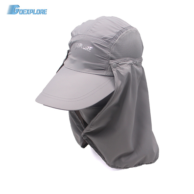 32fe66d47908a Outdoor Hiking Caps 360 degree summer sunscreen protection Caps Fishing  Bucket Hat For Travel Mountain Climbing Hat for men