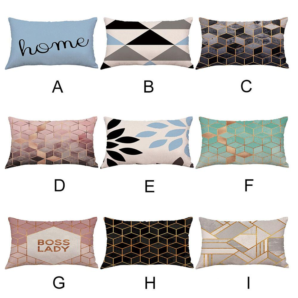 Hot Sale Super Soft Geometric Short Plush Pillowcase Men Women Rectangle Pillow Cases Home Pillow Cover 50*30cm
