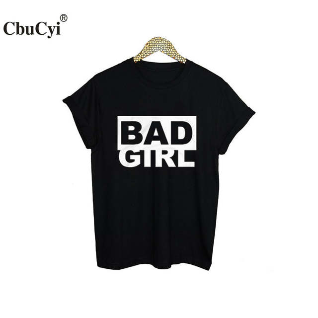 0dff6a99968 placeholder Bad Girl T Shirt New Fashion Women Short Sleeve T-Shirt Letters  Printed Tees streetwear