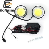 9V 30V 2pcs E8 DRL Ultra Bright Round 8W COB LED Eagle Eye Car Fog DRL