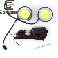 Eonstime 12 V/24 V 2 pcs Ultra Lumineux Rond 8 W COB LED Eagle Eye voiture Brouillard DRL Feux Diurnes Eagle Eye IP67 E8 7000 K off
