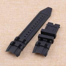 2c3b1b1d908 1 pc 26mm Preto Rubber Band Watch Strap Fit para Invicta Pro Diver  Chronograph Coleção