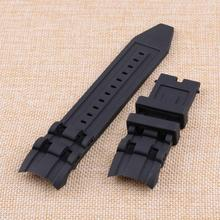 1Pc 26mm Black Rubber Watch Band Strap Fit for Invicta Pro Diver Chronograph Collection
