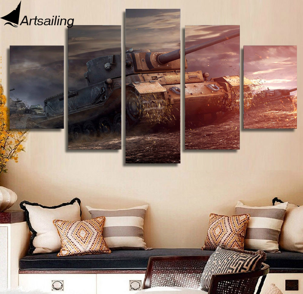 HD Printed Battle tanks Painting Canvas Print room decor print poster picture canvas Free shipping/ny-4093