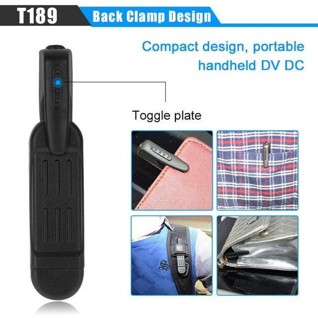 T189 Pen Camera Full HD 1080P Mini Camera Espia Portable Secret Camera Wearable 12M Video Voice Recorder Cam Support 32GB Card