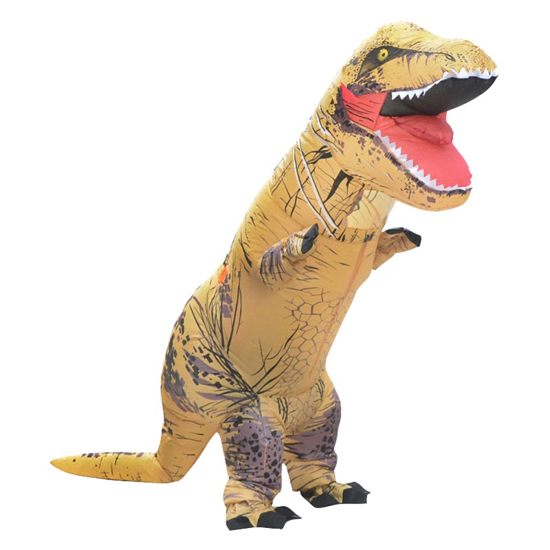 Party Adult Dinosaur Costume Cosplay Fantasy Inflatable Dinosaur Blowup t-rex Mascot Halloween Costume for Women Man
