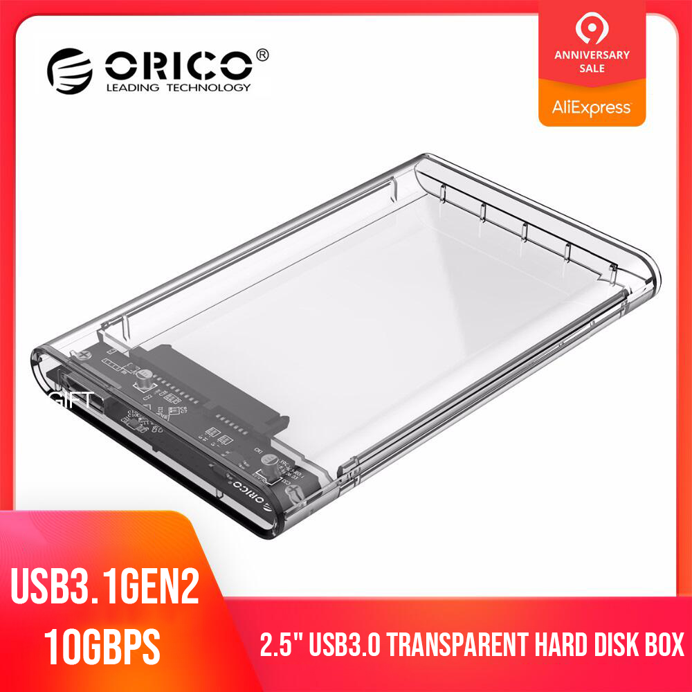 ORICO 2139U3-CR USB 3.0 External Hard Drive Enclosure SSD Case For 2.5in SATA HDD SSD Support UASP SATA 2TB Hard Drive Enclosure