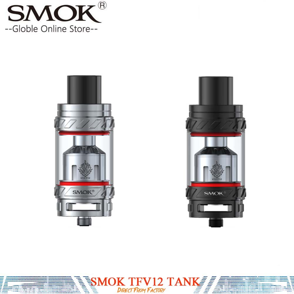 100% Original SMOK TFV12 electronic cigarette Tank Leak Proof 6ml Sub Ohm TFV 12 Tank Atomizer for 350w Smok GX350/G priv 220