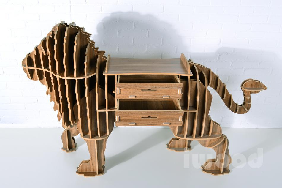 Perfect ... Modern Creative Home Furnishing Functional Furniture Wood Shelf With  Drawers Lion Lion Coffee Table / Side