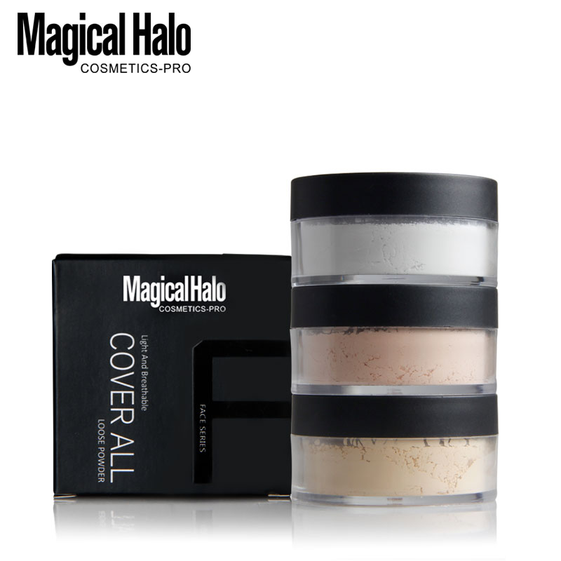 3 Color Translucent Loose Powder Waterproof Cosmetic Makeup Face Foundation Powder Skin Finish