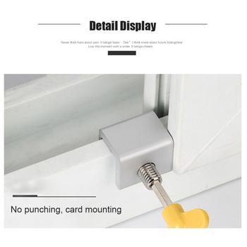 1 szt Regulowane okno przesuwne Stop aluminium Stop zamki blokada drzwi bezpieczeństwa z kluczami Home Office Security Lock Window tanie i dobre opinie Window Lock Other As Show