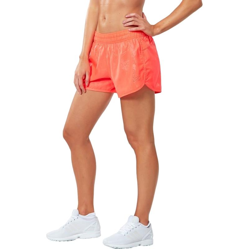 Women's 4in X-Vent Medium Shorts for 2XU Running TmallFS pink drawstring waist running shorts