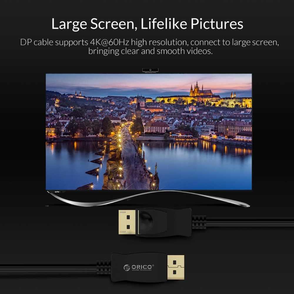 ORICO DP TO DP HDMI HD Cáp 4 K 60Hz 1.2 Phiên Bản 1 Chiều 3D DisplayPort Adapter Video bộ Chuyển Đổi âm thanh Cáp Cho Macbook Laptop