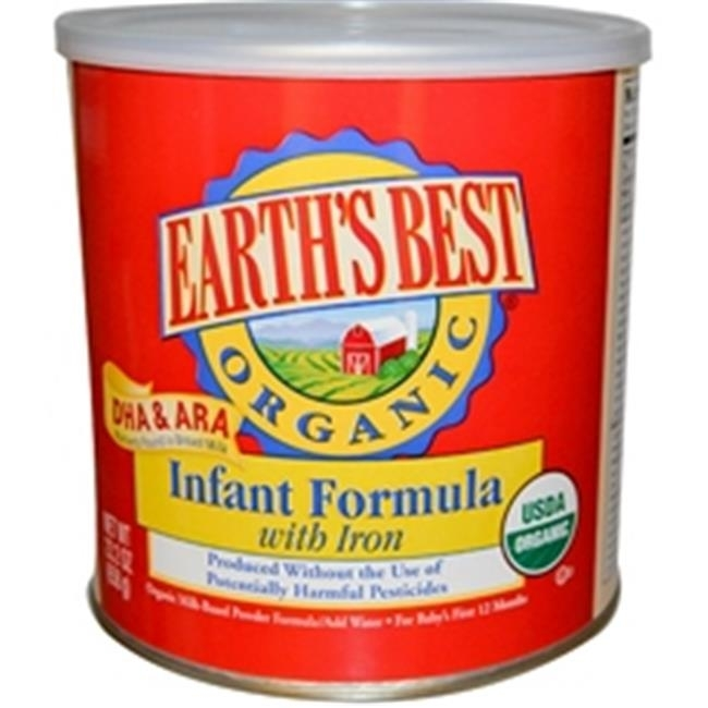 Earths Best Baby Foods B52905 Earths Best Organic Infant Formula With Iron Dha & Ara - 4x23.2Oz kirkland signaturetm infant formula w prebiotics