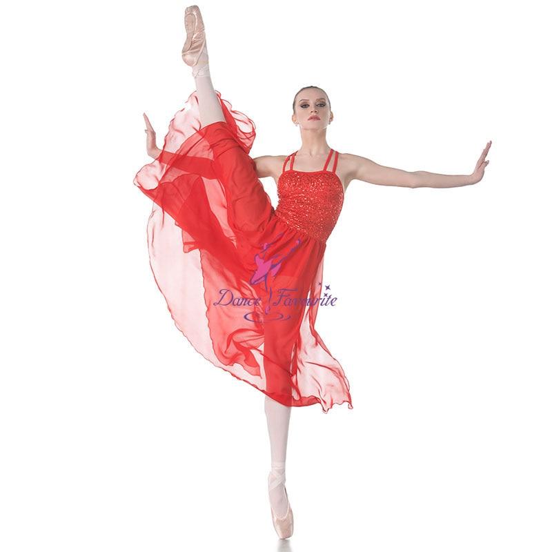 Dance Favourite Sequin Spandex Bodice with Chiffon Skirt Ballet Dress, Lyrical Dance Costumes Ballet Dress