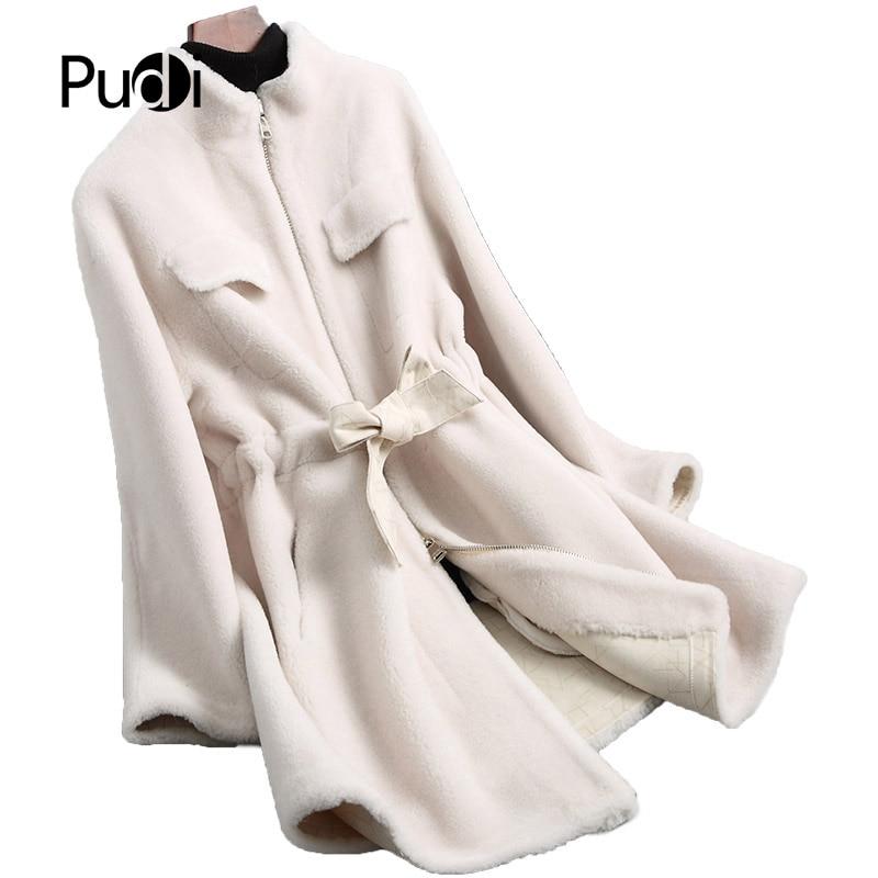 Long Veste Manteau Chaud Réel D'hiver Pardessus De Pudi Laine Fourrure A18196 Femmes Dame wPnRS