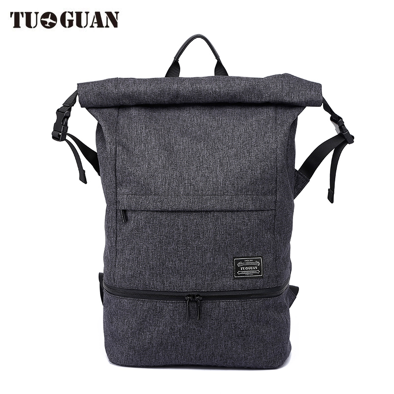 Купить с кэшбэком TUGUAN Backpacks for Men and Women Wet the isolation Solid Preppy Style Soft Backpack Unisex School Bags Big Capicity Canvas Bag