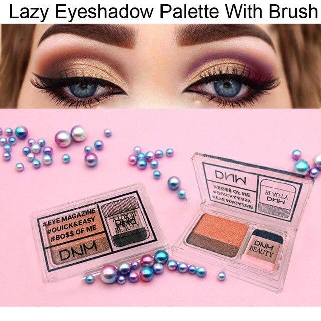 Double Color Lazy Eye Shadow Makeup Palette Glitter Palette Eyeshadow Pallete Waterproof Glitter Eyeshadow Shimmer Cosmetics 2