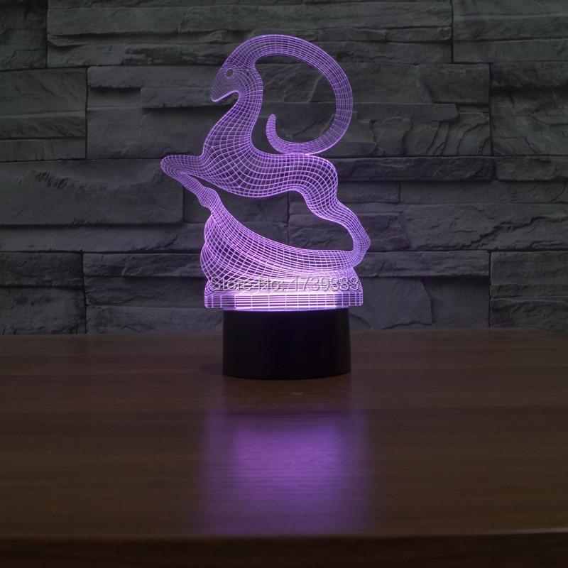 Alterar Cor led night light USB 7 3D Veados Incrível 3D CONDUZIU a Lâmpada de Natal Veados