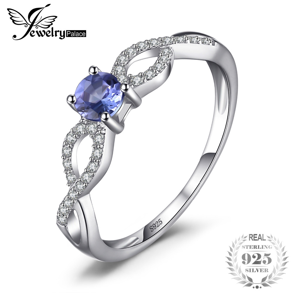 jewelry cut sapphire rings ring engagement sterling silver s flower round white women lajerrio