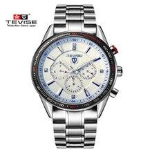 Mens Relojes de Primeras Marcas de Lujo TEVISE Mecánico Automático Luminoso Reloj Resistente Al Agua Reloj Masculino Relogio Del Reloj de Acero