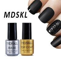 MDSKL 6ML Magic Super Matte Transfiguration Nail Polish Nail Top Coat + Base Coat Frosted Surface Oil Varnish UV Gel Polish