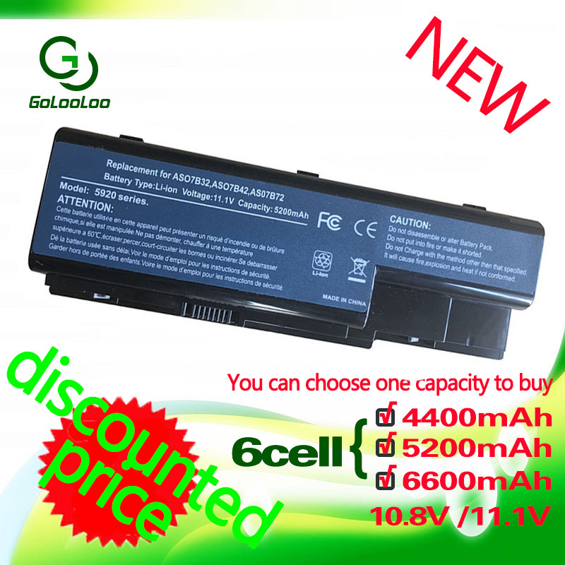 Golooloo Laptop Battery For Acer Aspire AS07B41 AS07B32 AS07B42 5720 5520 5520G 5530 5710 5715Z 5920 5739 5930 5920G AS07B31
