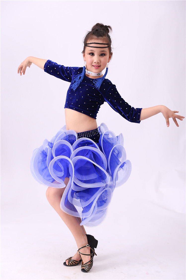 4 STÜCKE Kind Latin Dance Kleider Kinder Ballroom Dance Kostüm ...
