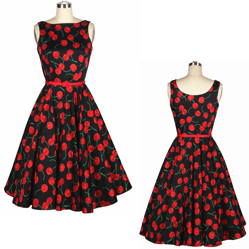 Popular Retro Cherry Dress-Buy Cheap Retro Cherry Dress lots from ...