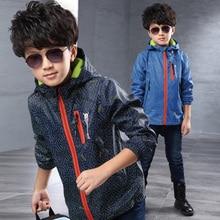 Hot Sale 2016 Brand Fashion Jackets Coats Children Boy's Jackets Coats Kids Active clothing Double-deck Waterproof Windproof