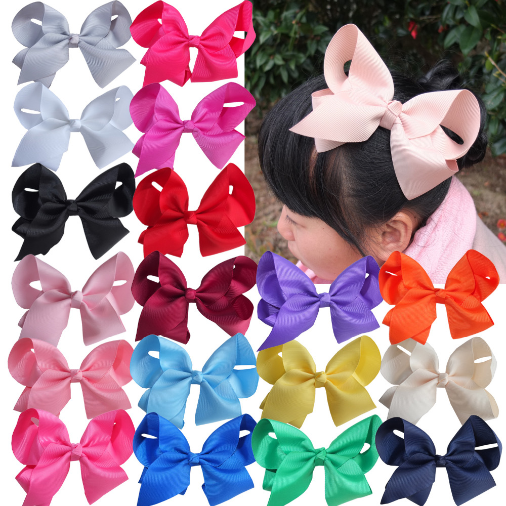 6 inch Extra large hair bow WITH clips Children Girl Hairbows Teens hair bow Boutique bows Hairpins Hair accessories 40pcs/lot princess bottle cap minnie kids hair bows with clips pin hairclip for girls barrette bow clip hairpins hair accessories hairbows