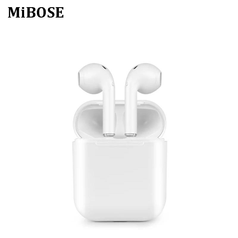 MIBOSE Twins Wireless Earbuds handsfree Headset fone Bluetooth Earphone in Ear Buds For earpods IOS Xiaomi all mobile phones