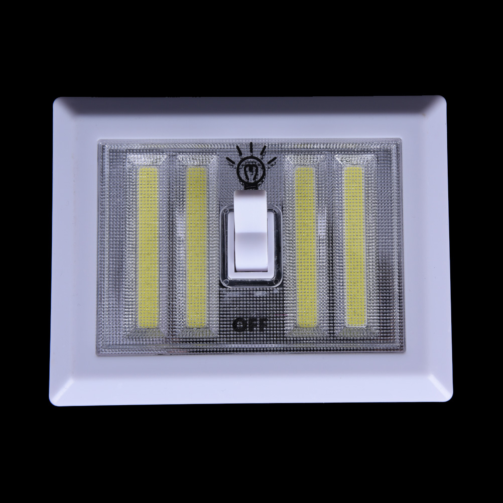 COB Switch Wall Lamp LED Cordless Light Battery Operated Kitchen Cabinet Garage Closet Camp Emergency Lamp Night Lights