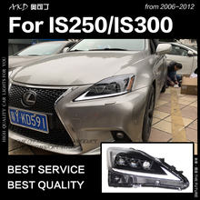 Akd Mobil Styling Head Lamp untuk Lexus IS250 Lampu 2006-2012 IS300 LED Headlight DRL Sinyal Lampu HID Bi xenon Auto Aksesoris(China)