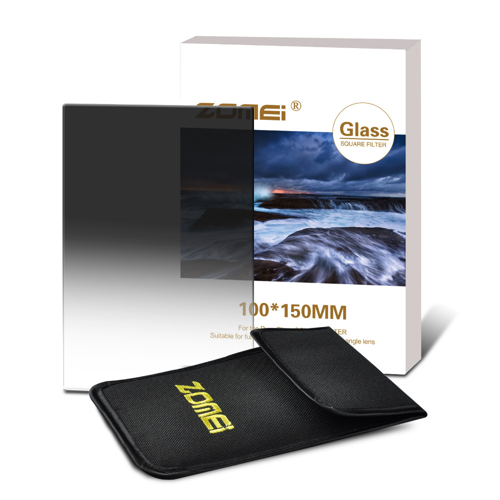 Zomei 100*150mm Square ND Import Optical Glass Neutral Density ND2 4 8 ND2 ND4 ND8 Filter Glass zomei pro 100mm grad soft nd2 nd4 nd8 square filter optical glass graduated neutral density gray nd filter for cokin z 100x150mm