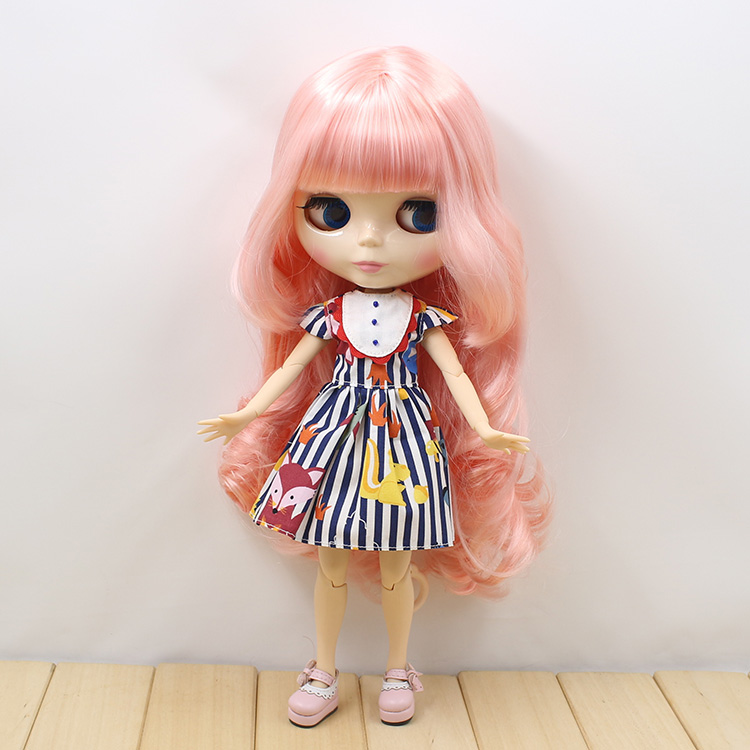 Nude Blyth doll with joint body long hair bjd 1/6 doll 12 fashion B female blyth dolls diy toys